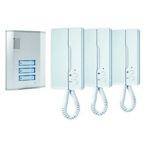 INTERPHONE - VISIOPHONE SMARTWARES Kit d'interphone audio filaire pour 3 l