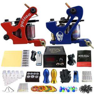 AIGUILLE DE TATOUAGE Kit Tatouage 2 Machine 8000-25000RPM En Alliage Al