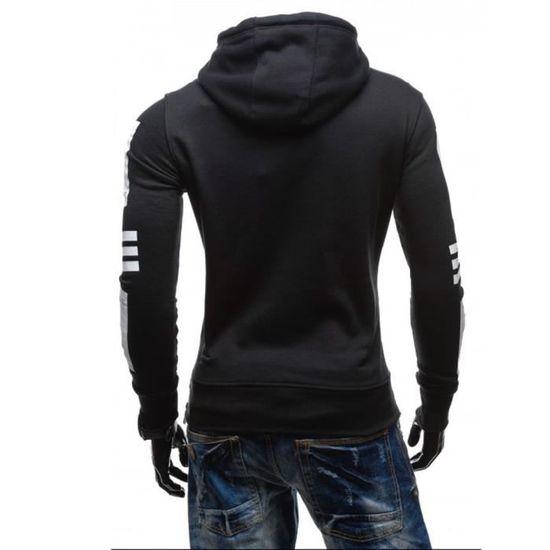 Manteau D'hiver Sweat Chaud À Capuche Hommes Les Veste Pull Noir Outwear YqxRfc4