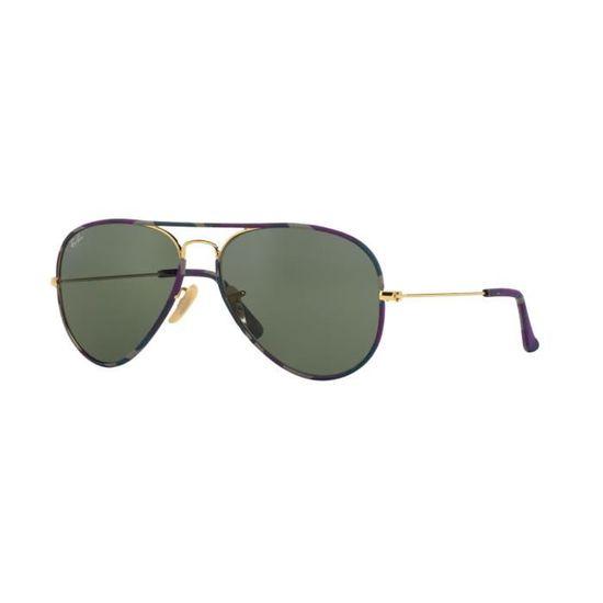 b597418564ef9 Lunettes de soleil Ray Ban Aviator RB3025JM 172 Taille  58 - Achat   Vente  lunettes de soleil - Cdiscount