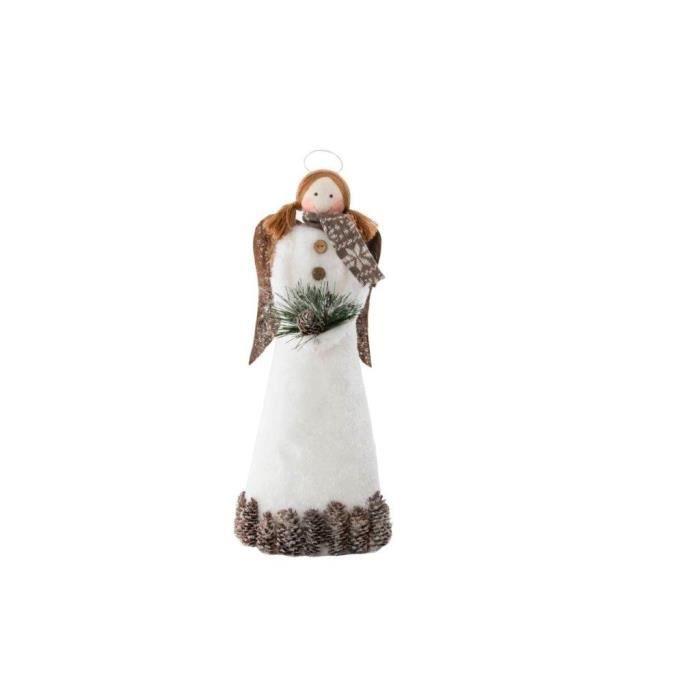 Personnage de Noël : Ange en polyester 14x11x32 cm