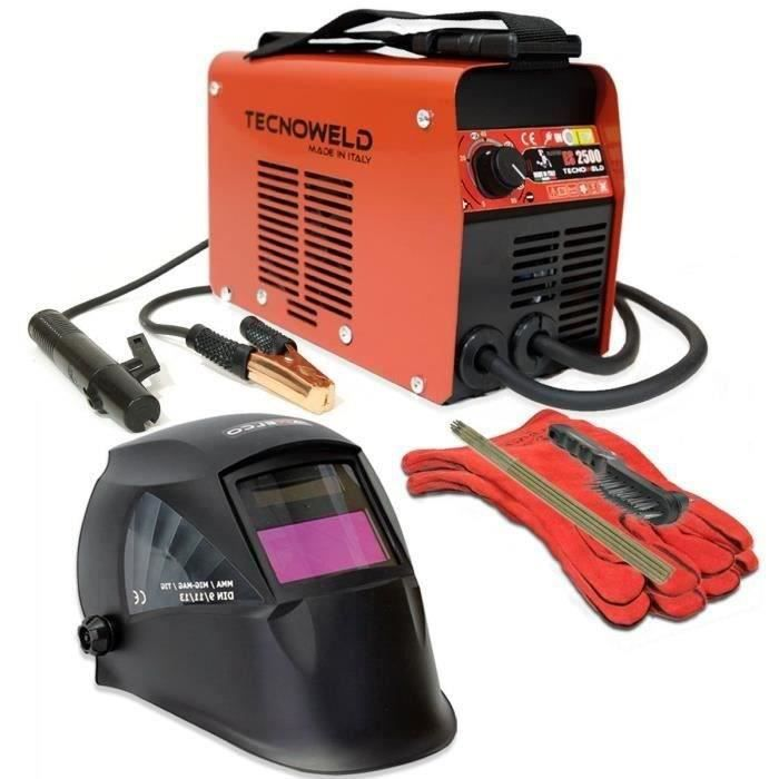 TECNOWELD Poste à souder Inverter ES 2500 80A avec mallette et accessoires