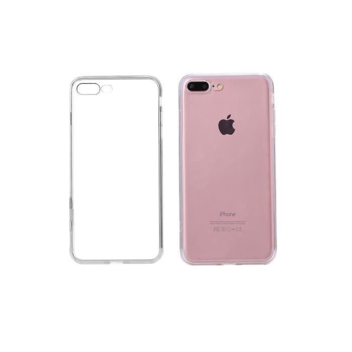 PLATYNE Coque pour iPhone 7+ Silicone - Transparent