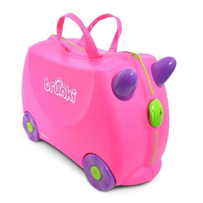 TRUNKI Valise Porteur à roulettes pour enfants - Rose Trixie