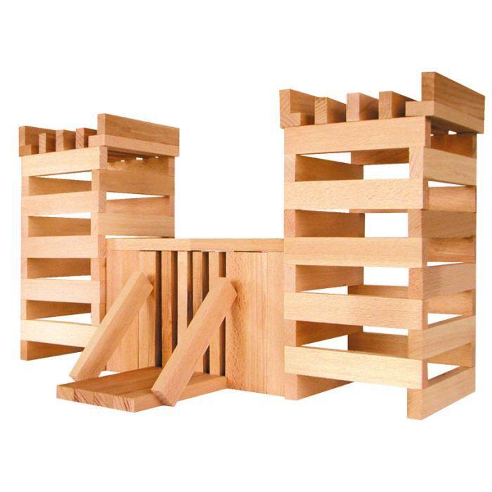 Jeu de construction de 100 b chettes en bois ma achat for Construction en bois toulouse