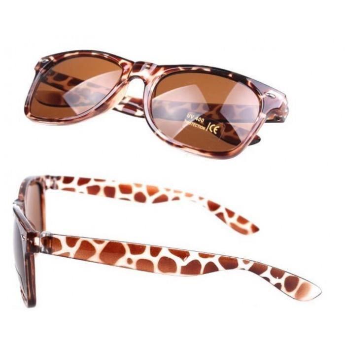 ff963b8d90c6c7 Lunette de soleil style année 50 leopard retro homme femme - Achat ...
