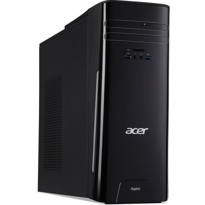 Unité Centrale - ACER Aspire TC-780 - Core i5-7400 - RAM 6Go - Disque Dur 1To HDD - GTX 1050 2Go - Windows 10