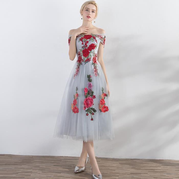 Robes de c r monie soir e cocktail mariage femme courte for Robes de mariage en argent