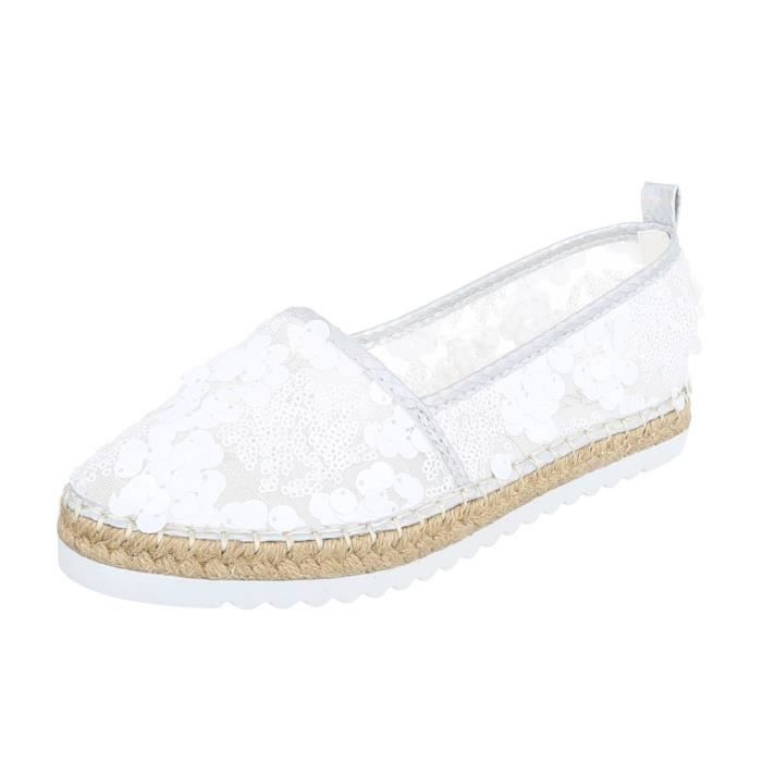 Femme chaussures flâneurs Slipper loisirs chaussures blanc 41 5cwPGD62