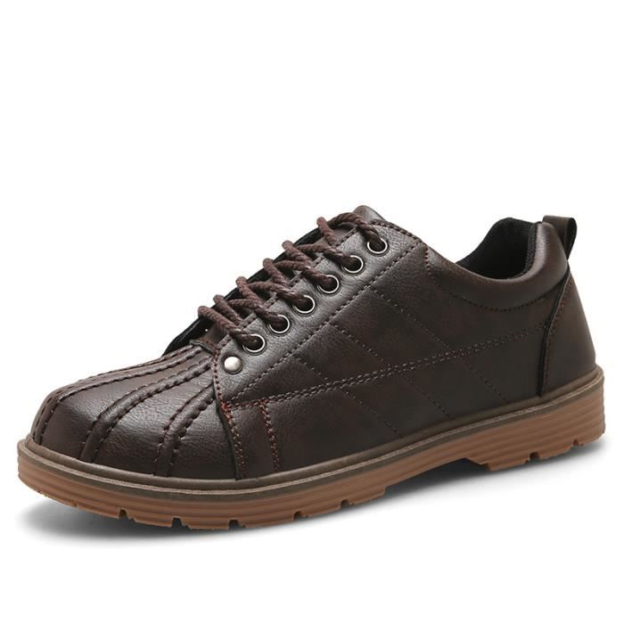Homme Derby Cuir Chaussure De Mode Casual Simple erWCxBdo