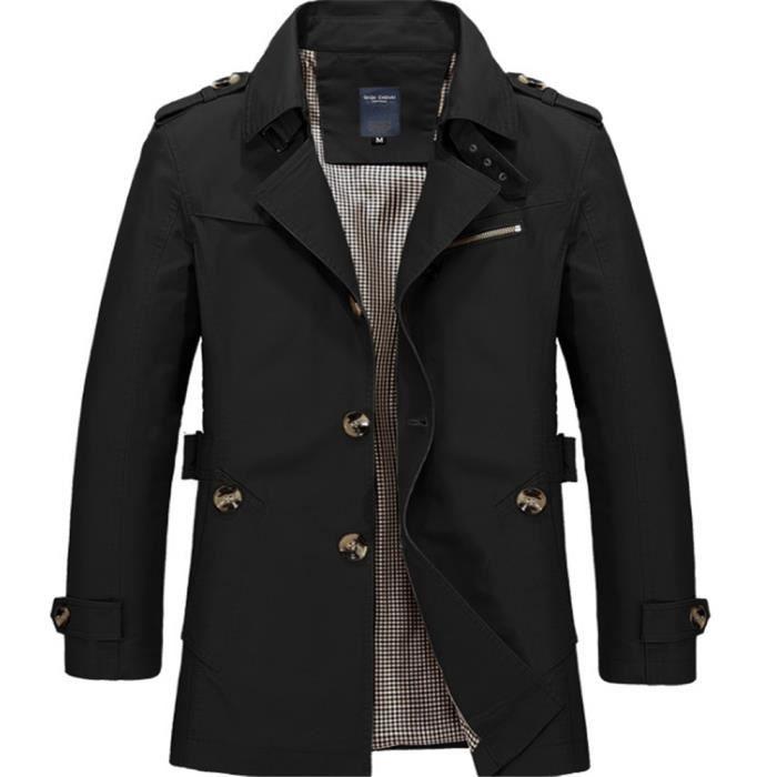 blouson homme Classique hiver mode Beau blousons Style britannique  mi-longue Style Extravagant homme manteau Grande Taille m-5xl 664594343025