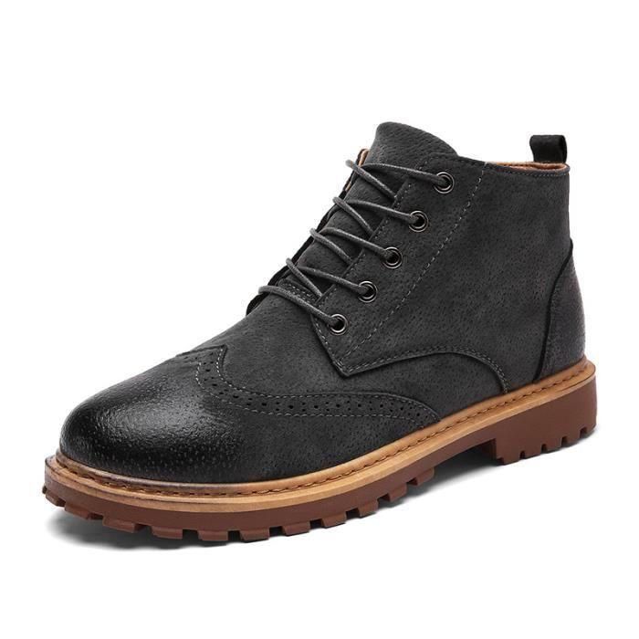 Bottine Homme Comfortable Classique Chaussure Hommes BXFP-XZ218Noir43 bBIL5Eg