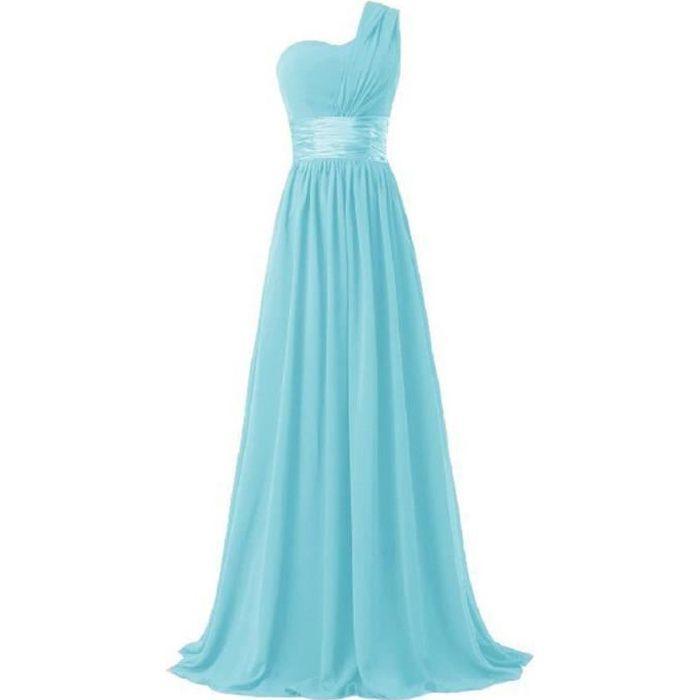 Robe de soiree couleur turquoise