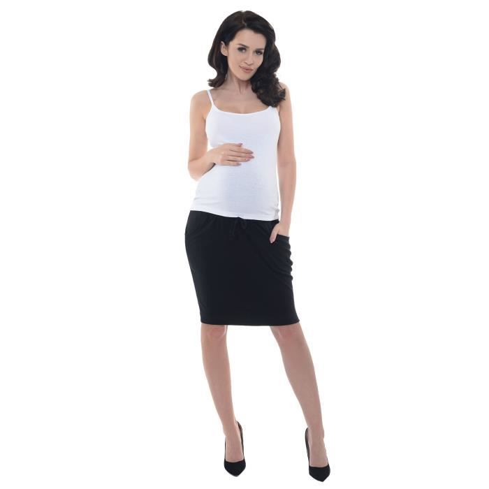 Bump Office Midi Jupe 38 Avec Taille Grossesse 3so7ve Femmes Baudrier Travail 1500 WSYqIfx1A