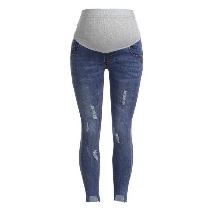 femme enceinte ripped jeans pantalons de maternité pantalons soins