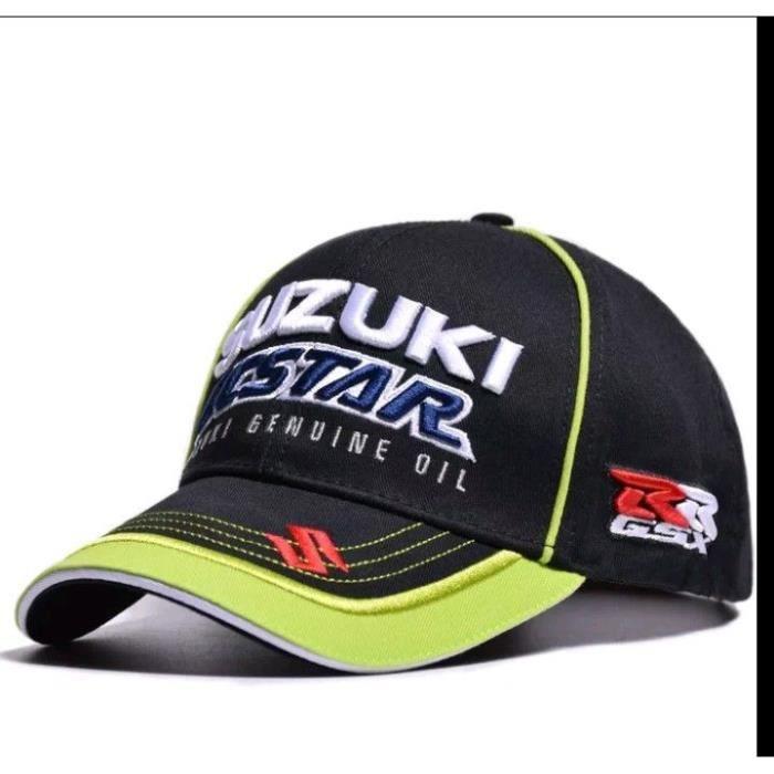 CASQUETTE DE CYCLISME Gorra, hat cap, MOTO GP SUZUKI ECSTAR GSX RR, BLAC