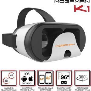 CASQUE RÉALITÉ VIRTUELLE Mogaman K1 Casque de réalité virtuelle pour smartp