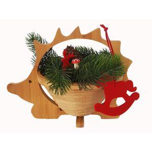 DÉCORATION DE TABLE Bol en bois, soucoupe, panier pliant en bois de ba