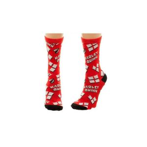 COLLANT - JAMBIERE Chaussettes Harley Quinn DC Comics - Logo Multicol 7c869ab5e74