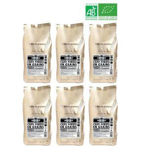 CAFÉ - CHICORÉE ALTER ECO Café Pérou 100% Grains Bio 1kg X6