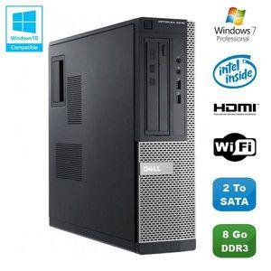 UNITÉ CENTRALE  PC DELL Optiplex 3010 DT Intel G640 2.8Ghz 8Go 2To