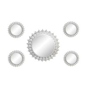 miroir lot de 5 miroirs en polypropylne 50 x 50 cm g