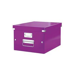 BOITE - MALLETTE LEITZ Boîte de Rangement Click & Store A4  Violet
