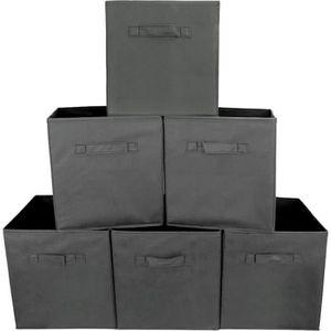 BOITE DE RANGEMENT Ohlala 6 pcs 27 x 27 x 28 cm Boîtes/ Tiroir de Ran