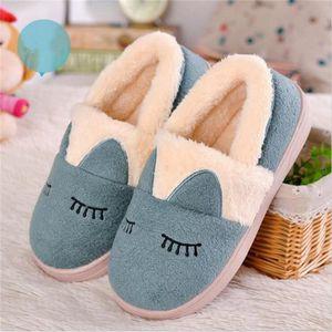 pantoufles d'intérieur Confortable fantaisie de maison des chaussures femme hiver Chaudchaussons femmes Plus dssx380noir38 g6MejI