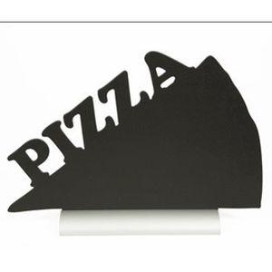 CHEVALET DE TABLE Silhouette de table avec socle aluminium PIZZA