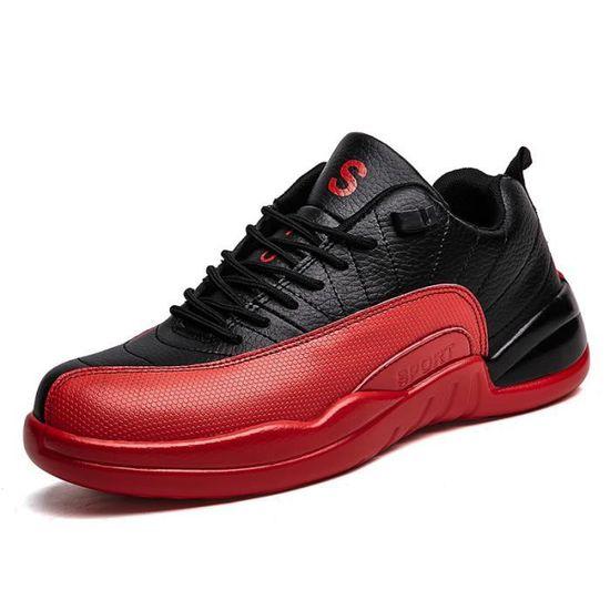 Baskets Homme Chaussure été et hiver Jogging Sport léger Respirant Chaussures BWYS-XZ221Noir39 Rouge Rouge - Achat / Vente basket