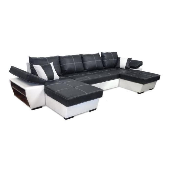 canape convertible avec meridienne gris achat vente. Black Bedroom Furniture Sets. Home Design Ideas