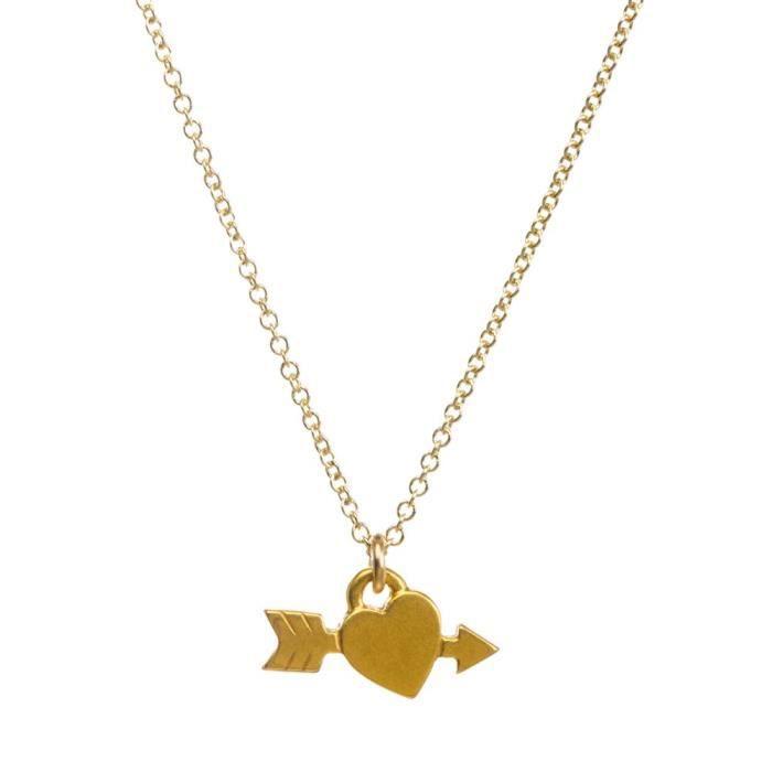 Dogeared Femmes I coeur vous! Coeur collier avec la flèche Collier de chaîne, 16 H1WAI