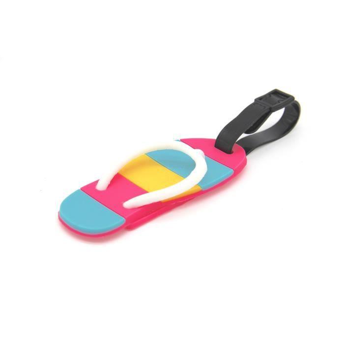 Sandales mignon Étiquette de bagage Valise Id Tag avec sangle EIWLK