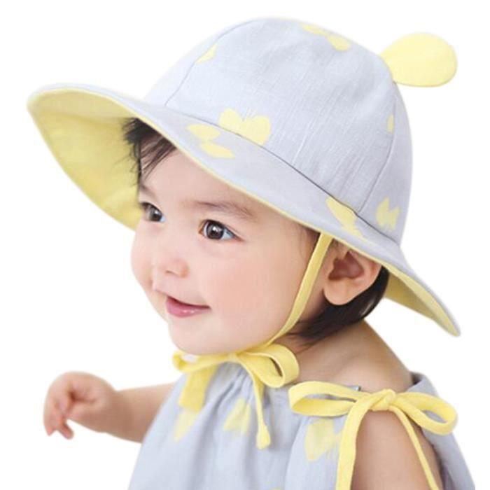 40992034cdc EOZY Chapeau de Soleil Bob Pour Bébé Fille - Achat   Vente chapeau ...