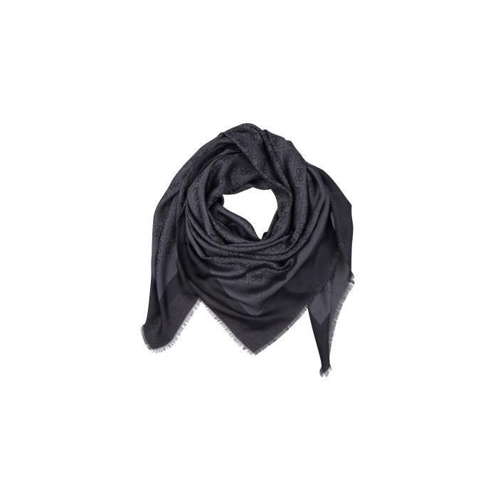 Guess Foulard Keffieh Femme Imprimé Logo Noir - Achat   Vente ... 26595be4420