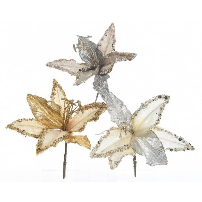 VILLAGE - MANÈGE Fleurs Velours décoration de Noël