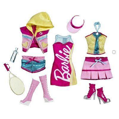 v tements pour poup e barbie 3 tenues de loisirs achat vente accessoire poup e cdiscount. Black Bedroom Furniture Sets. Home Design Ideas