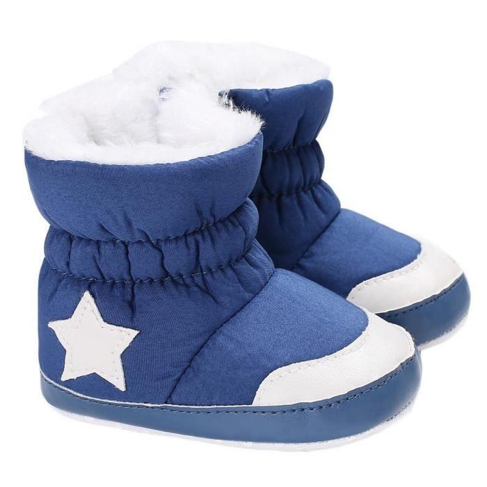 EOZY Chaussons Bébé Enfant Fille Garçon Boots et Velours Pantoufle Antidérapant XRviNN