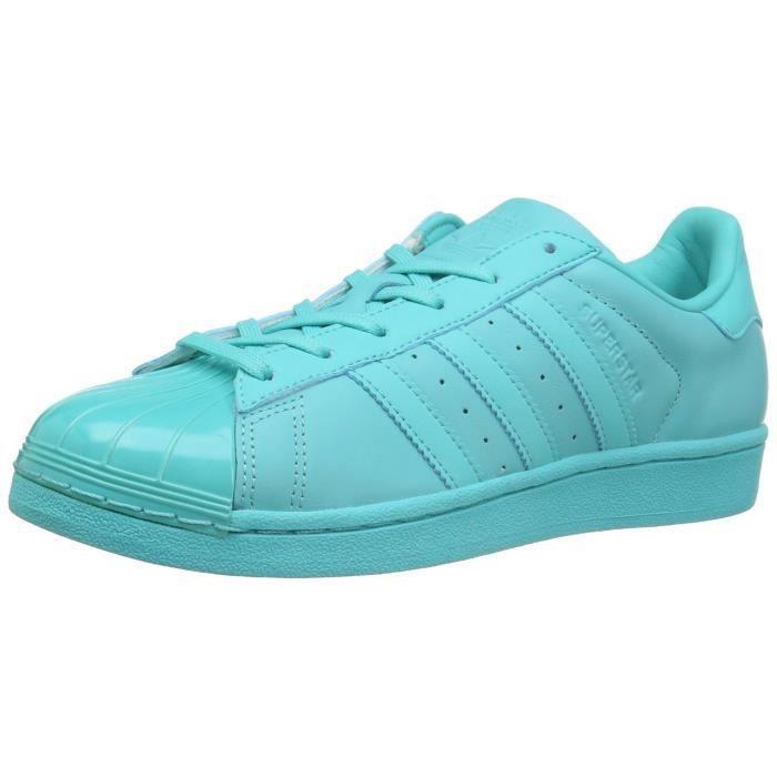 Adidas Originals Superstar Chaussures de sport de mode Toe brillant M6MX8 Taille-40
