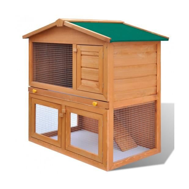 CLAPIER Superbe Cage Clapier Extérieur en Bois pour Lapins