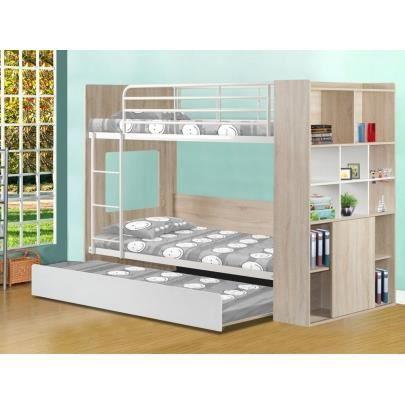 Lits superpos s marcus avec lit gigogne etag res - Lit superpose avec lit gigogne ...