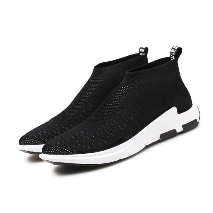 Casual marche léger haut de chaussettes cheville Chaussures respirant Sneaker Knit JKUB9 39 1-2