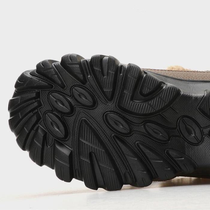 Bottes de neige Antidérapant hommes plus coton chaud en plein air de chaussure épaisses pour Botte longues grande taille 38-49