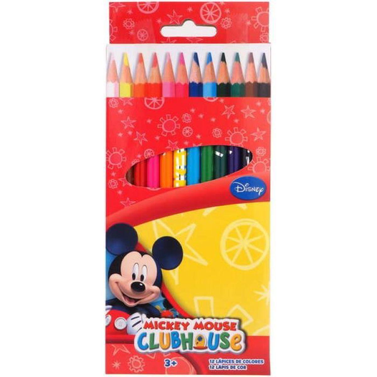 CRAYON DE COULEUR Les 12 crayons de couleurs bois - Mickey