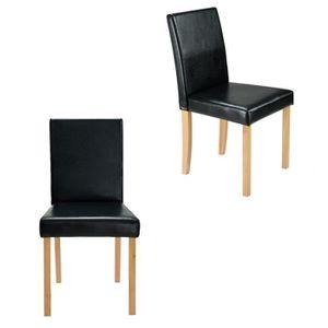 CHAISE 2 X Chaise De Restaurant Fauteuil En Cuir Confort