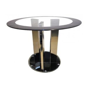 T887 Table Salle A Manger Ronde Verre Transparent Achat