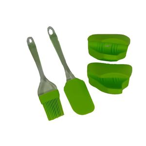 LOT USTENSILES MARYSE PINCEAU MANIQUES SILICONE ROBUSTE