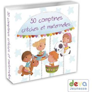 CD COMPTINES - ENFANTS Comptines crèches et maternelles - CD 50 chansons