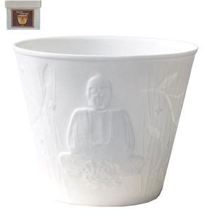 BOUGEOIR - CHANDELIER Tasse porte bougie en porcelaine Bouddha